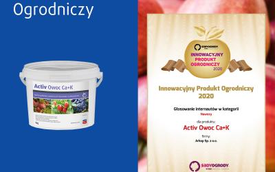 Activ Owoc Ca+K – Innowacyjny Produkt Ogrodniczy 2020